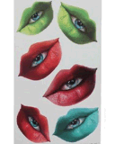 La boca Eyes la etiqueta engomada temporal impermeable del tatuaje del arte de la etiqueta engomada del tatuaje