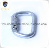 Metal al aire libre Carabiner de la hebilla del gancho de leva de clip del anillo en D