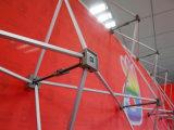 Le tissu en aluminium carré de tube sautent vers le haut l'étalage (SS-PD7)