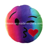 Hoofdkussen van Emoji van de Emotie van het Stuk speelgoed van de Pluche van de Grootte van de douane het Kleurrijke