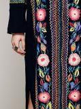 Il nylon nero ricama il vestito dal Greg Mullins delle donne