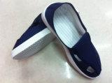 Escuro - sapatas azuis do Quatro-Furo do ESD para a sala de limpeza