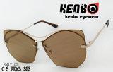 Gafas de sol del metal del diseño de la novedad con opciones especiales del color de la lente de Eyebar Km17107 Multible