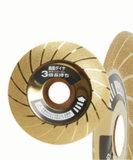 Puxar o tipo roda de moedura galvanizada do diamante para Andmetal cerâmico