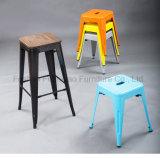 Металл фабрики оптовых продаж самомоднейший обедая задняя часть стула снаружи