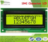 16X2 Stn carattere display LCM, MCU a 8 bit, YG retroilluminazione, COB LCM schermo