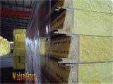 Предохранение от шерсти утеса/стеклянных Wool+PU/Fire, сандвич Panel-02 стены изоляции жары