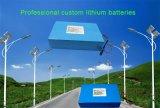 태양 가로등을%s 세륨 RoHS 증명서를 가진 18650 리튬 이온 건전지