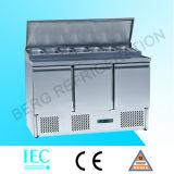 Réfrigérateur vertical d'acier inoxydable de 4 portes