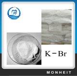 白い結晶の粉99%の薬剤の臭化カリウムのKBR
