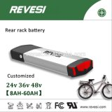 Hot Sell 48V 12ah Rechargeable Ebike Rear Rack Battery Pack