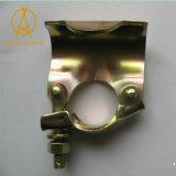 El acoplador galvanizado del andamio conecta el tubo de acero