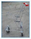 Chrom-überzogener Korb-Einkaufen-Laufkatze
