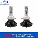 자동 램프 Philips는 차 또는 트럭 맨 위 빛을%s 50W 6000lm X3 LED 헤드라이트 9005 Hb3를 잘게 썬다