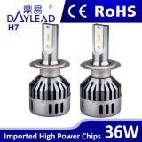車のためのH7 3600lumens 36W 6000k LEDのヘッドライト