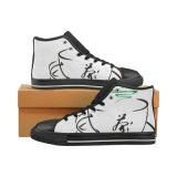 La aduana hace los zapatos las zapatillas de deporte clásicas de la lona de la impresión de la sublimación