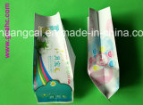 La bolsa de plástico lateral del bolso del alimento del bolso de la servilleta del escudete