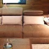 Sofà moderno del tessuto di modo con il poggiacapo registrabile (972A)