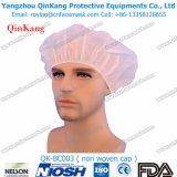 Chapeau Bouffant médical remplaçable non tissé 18~28 pouces pour l'usage chirurgical Qk-Bc001