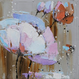 Pintura al óleo de acrílico de la flor del impresionismo