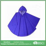 Poncho de cores sólidas de algodão Long Raincoat