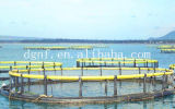 Unir la acuacultura que cultiva jaulas de los pescados