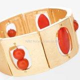 Form-Schmucksache-Legierungs-Gold überzog Farrah Ausdehnungs-Armbänder