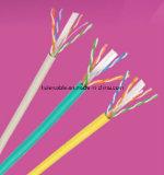 Cable de LAN de ETL UTP CAT6 con el paso de la platija