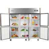 Refrigerador doble de 2016 de los nuevos productos puertas de la temperatura seises para la cocina