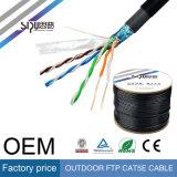 Cable de red LAN Comunicación impermeable al aire libre sipu Cat5 Cat5e CAT6