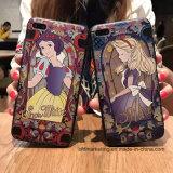 cas mobile de téléphone cellulaire TPU du contact 3D de couleur de la qualité de dos mou d'impression pour l'iPhone