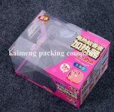 専門の製造者のハンドル(プラスチックパッケージボックス)が付いているFoldableプラスチックPVCパッケージボックス