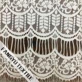 Tela acolhedor do laço do algodão para o vestido de casamento nupcial