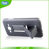 Cassa ibrida sottile del telefono del PC dell'armatura per J3 Prime/J3 2017 con il caso di Kickstand per il iPhone 6/6s