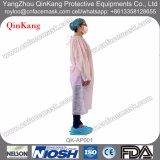 Nichtgewebter Labormantel, schützendes Kleid, Arbeitskleid