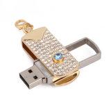 Azionamento dell'istantaneo del USB della parte girevole del bastone di memoria del metallo del diamante USB3.0
