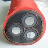 Geïsoleerdr pvc van de Leider van het koper en het In de schede steken de Kabel van de Macht 3X10mm2