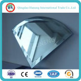 vidrio de flotador revestido del espejo del aluminio de 4.7m m