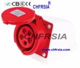 5p 6h IP44 16A Superfície Cee / IEC PP / PA industrial Soquete Montado