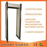 Secugate 650 caminata de 33 zonas a través del detector de metales anti del detector de metales
