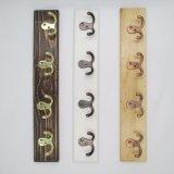 Beaux crochets à haute teneur de vêtements en bois et crochets de rangée en métal (ZH-7005)