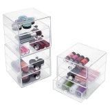 Organisateur acrylique transparent de tiroir pour des fournitures de bureau