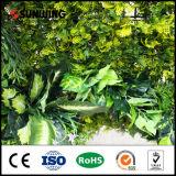 Proveedores paisaje paneles planta artificial para decoración de la pared superior
