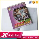 Cahier célèbre d'école de livre d'exercice de couverture d'étoile de football de coutume