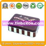 Rectángulo de alimento en conserva de embalaje, caja de la lata de la galleta, galletas Box
