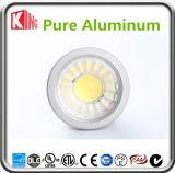 GU10 del fabricante de China 5000k 6000k luz LED 7W LED de la lámpara del proyector