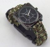 Reloj de Paracord, reloj de la supervivencia, reloj del compás, reloj de múltiples funciones