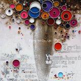 Pintura decorativa casera de aceite de la flor abstracta