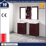現代エスプレッソの光沢によって塗られる純木の浴室の家具のキャビネット