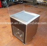 移動式単一鍋によって揚げられているアイスクリームの圧延機またはアイスクリームのローラーまたは揚げ物のアイスクリーム機械か即刻のアイスクリームロールまたは揚げられていたIcreamのカートまたはアイスクリームの冷たい版のカートのセリウム